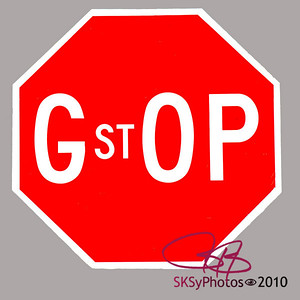 """Not the G.O.P., but the new G.st O.P. The new slogan:  """"We're not for anything.  We just want to stop everything that Obama is for.  Amen."""""""