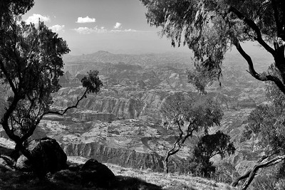 View from the Simeon Mountains Ethipia