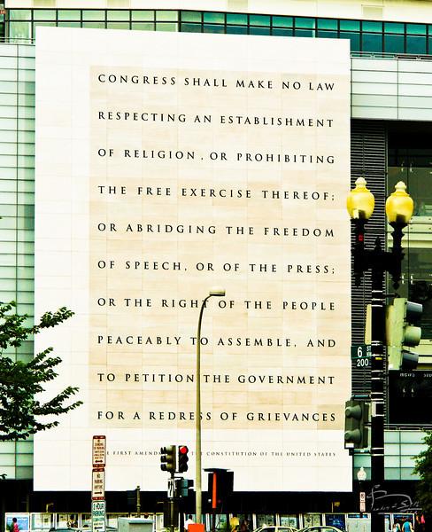 First Amendment, downtown Washington, D.C.