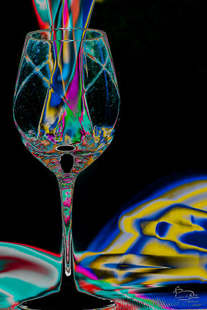 Still Life: etched wine glass