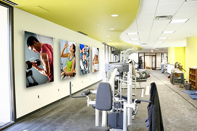 Health Club Wall Installation