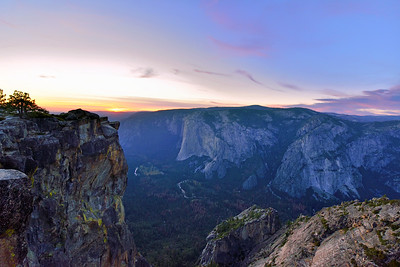 Taft Point at dusk