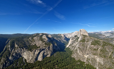 Half Dome and Yosemite Valley from Glacier Point.