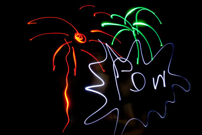 Fireworks illustrate our persistence of vision.