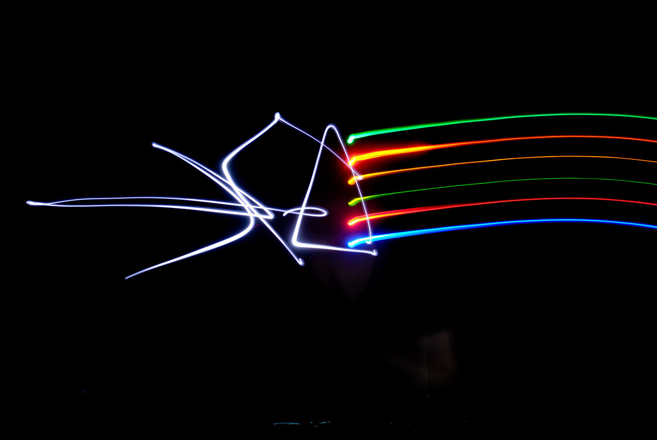 How cool is it that white light is made up of all the colors, which can be seen with a prism.