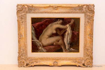 Oil Painting-A  Henry Nordhausen-After The Bath-1