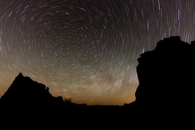 Star trails in Arches National Park, Moab, Utah. ©2011 Nicole S. Young