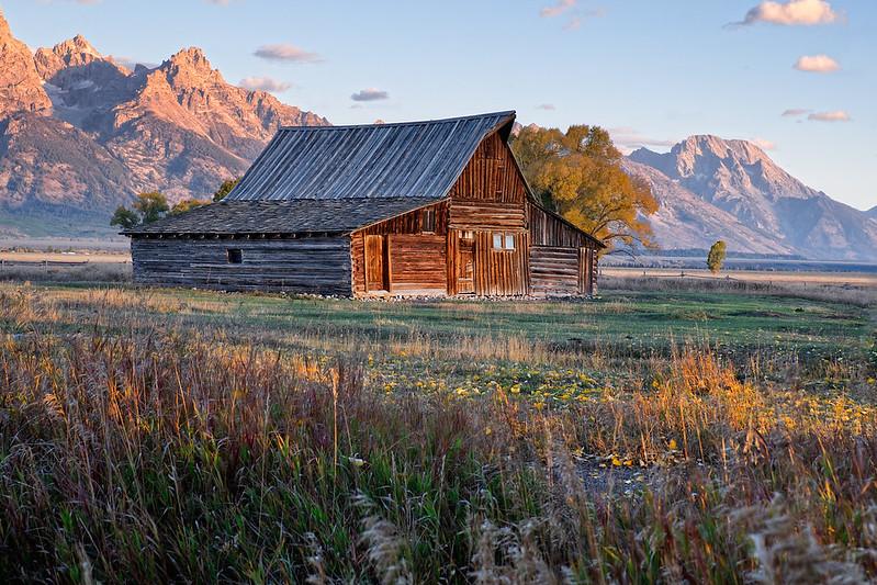 Teton Barn at Sunrise