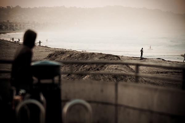 misty morning<br /> <br /> Pacific Beach, San Diego CA