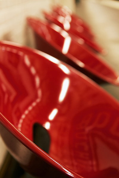 Red Métro Chairs