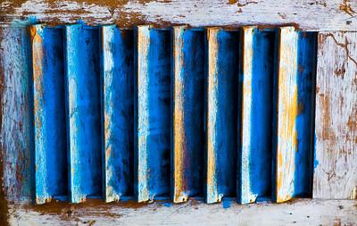 Shutters in Blue