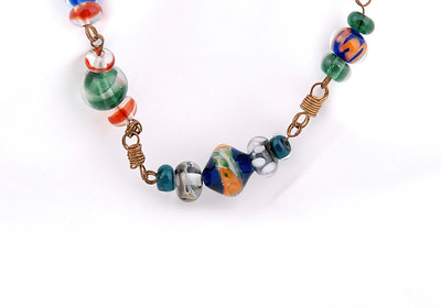 Glass Bead Necklace by Chris Romero