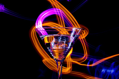 Electric Martini Glass