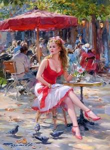 Konstantin Razumov  'Dans le café des Tuileries'