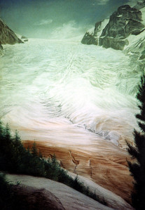 Glacier.  A glacier somewhere in Europe that I drew way back for a friend.  I'll have to one day ask them where it is?