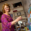 "One of Lois Andersen's earliest memories is ""making things."" Her father was an artist, and Andersen's early childhood was a nurturing environment that provided the freedom of unstructured time with the provision of simple art materials. ""I had lots of time to wonder about things, and try to make them,"" says Andersen. As she grew, Andersen's art-making focus turned to 2-D before she eventually became a painting student at Pratt Institute and the Art Student's League in NY.<br />   <br /> ""Painting is an on-going inquiry,"" says Andersen, and that process can ""never fully be realized,"" because there is always more to reach for. ""It's deadly to focus on the idea of a perfect product; there is no such thing and you will be robbed of the joy that comes with the pursuit.""<br />  <br /> Andersen describes her painting as Expressionist/Realist; she teaches at the EU, and does some illustration. She taught art for more than twenty-five years, before making the decision to focus on her painting. As a resident artist at Emerson Umbrella, Andersen says, ""It's the perfect place for me where I am able to pursue my painting and also have opportunity to teach.""<br />  <br /> As a teacher, Andersen welcomes students from many levels of experience. She explains, ""My job is to help people get a little further, in each effort, to move forward. To learn what their strength is and help them pursue it. It's fun to teach someone who is completely new to art because they are so open, and usually surprised at how good their first efforts are."" Andersen believes that training in the basics of the elements of design, handling of mediums and lots of practice is key and that structure is the route to freedom of expression later on.<br />   <br />  Andersen explains a growing desire to move forward—take on new direction—in her painting. She grew tired of her ""little paintings and landscapes; I knew something was going to change but I didn't know what it was going to look like."" Andersen's family heritage is Norwegian, and she spent time in Norway as a student. She has been to her father's homeland many times with a recent trip to the Norwegian Arctic this past summer. ""As I became absorbed into that austere landscape, it resonated so deeply. These images have become the focus of new work; much larger paintings, deep and moody, huge, ponderous landscapes.""<br />  <br /> Anderson references her most recent painting, a large abstract with sweeping brushstrokes and fun, bold colors. ""I love that feeling of feeling like I'm nothing in a huge space…it touches on the eternal…it's so big and so far beyond you."""