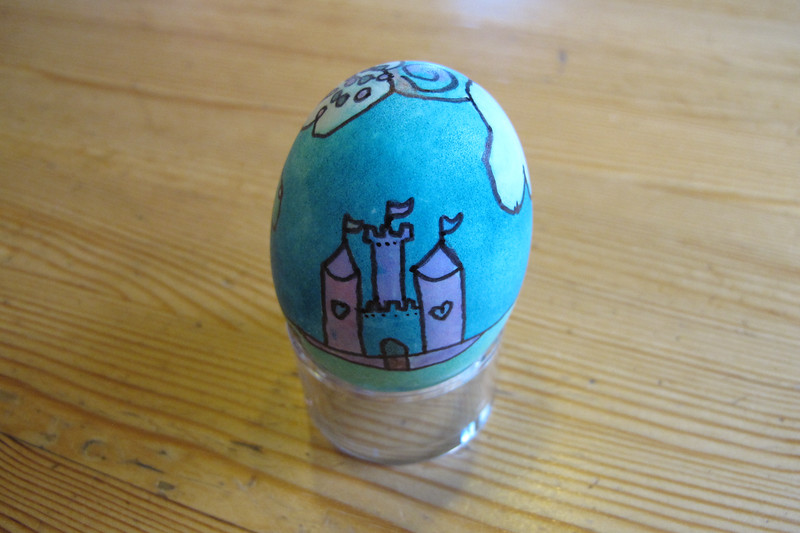 """Clara's Masterpiece Egg and Poem, """"Baby Unicorn's First Day Out"""""""