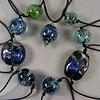 Mixed group of memorial beads: Nebula series and Galaxy Swirl series
