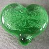 Pale emerald green heart-shaped comfort stone.