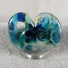 Ocean blue frit heart pendant