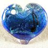Custom blue heart pendant, music note