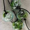 Lemongrass green Galaxy swirl series, small round