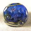 Blue and purple Nebula series bead, large round tab shape