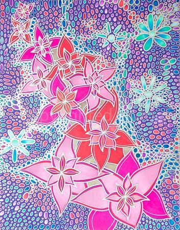 Space Flowers [27x35 cm]