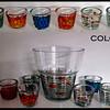 Size information<br /> <br /> Vase<br /> Height: 19 cm<br /> Diameter: 19 cm<br /> <br /> Tealights:<br /> Height: 6 cm<br /> Diameter: 8 cm