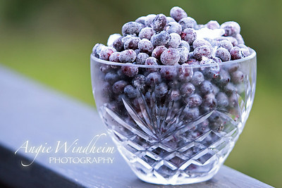 Frozen blueberries.