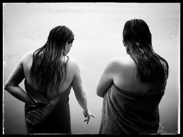Gespräch am See