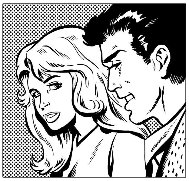 Comic Book Couple --- Image by © John Richardson/Illustration Works/Corbis