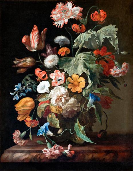 Rachel Ruysch (Dutch, 1664–1750), Still-Life with Flowers, oil on canvas, 75 x 58.5 cm (29.5 x 23 in), Hallwyl Museum, Hamngatan, Sweden. --- Image by © Corbis