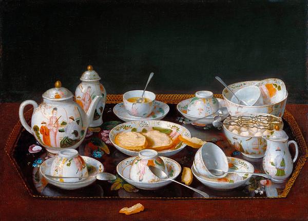 Jean-Étienne Liotard (Swiss, 1702-1789), Still Life: Chinese Tea Set, c. 1781-3, oil on canvas, 37.8 x 51.6 cm (14.9 x 20.3 in), The J. Paul Getty Museum, Malibu, California. --- Image by © Corbis