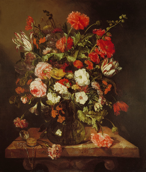 17th century --- Still Life with Flowers by Abraham Hendricksz van Beyeren --- Image by © The Gallery Collection/Corbis