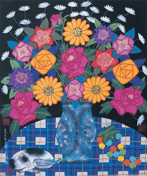 1996 --- Beautiful Flowers by Cao Jingen --- Image by © Artkey/Corbis