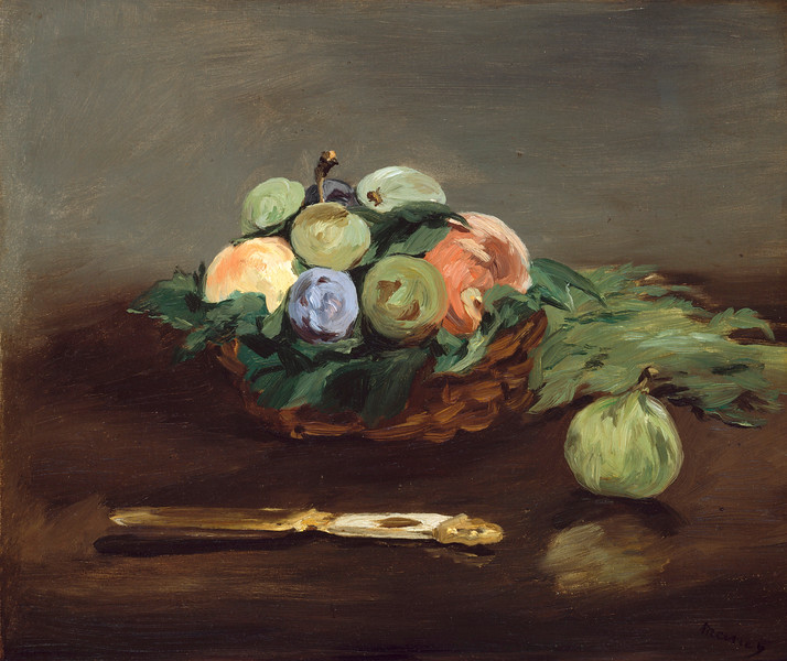 Édouard Manet (French, 1832–1883), Basket of Fruit, c. 1864, oil on canvas, 37.8 x 44.4 cm (14.9 x 17.5 in), Museum of Fine Arts, Boston. --- Image by © Corbis