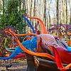 "November 2017<br /> <br /> MY FAVORITE in the exhibit!!!!<br /> <br /> ""This fall, experience a stunning outdoor exhibition featuring the work of artist Dale Chihuly. Presented for the first time in an Ozark woods, it's a world of wonder, waiting to be explored, only at Crystal Bridges. Chihuly has been an innovator for more than 40 years, working in many media including glass, paint, and neon, and always pushing their boundaries to carry out his distinctive vision.""<br /> <br /> ""He changed the way we think about glass, stretching the medium to new realms of possibility. Over the years his creations have become familiar around the world. He is globally renowned for his site-specific installations in public spaces, as well as exhibitions in museums and gardens. At Crystal Bridges, Chihuly's breathtaking works are installed along a paved and lighted trail, which winds through the museum's natural Ozark forest."" <br /> <br /> ~ Reprinted text from here: <br /> <br /> <a href=""https://crystalbridges.org/exhibitions/chihuly/"">https://crystalbridges.org/exhibitions/chihuly/</a><br /> <br /> ""DALE CHIHULY: IN THE FOREST"" 2017<br /> June 3, 2017 - November 27, 2017 (extended from November 13, 2017)<br /> Crystal Bridges Museum of Art<br /> 600 Museum Way<br /> Bentonville, AR 72712<br /> <br /> Crystal Bridges Museum of American Art Official Website: <br /> <br /> <a href=""http://crystalbridges.org/exhibitions/chihuly/"">http://crystalbridges.org/exhibitions/chihuly/</a><br /> <br /> Dale Chihuly's Official Website:  <a href=""http://www.chihuly.com"">http://www.chihuly.com</a>"