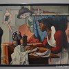 """""""ALMA SEWING"""" by Francis Criss<br /> <br /> """"In the 1930s Francis Criss was critically acclaimed for his distinctive blend of realism and abstraction. Alma Sewing is his most ambitious and striking work from these heady years. In its celebration of the artist as worker, the painting is a quintessential 1930s expression, but it also makes a personal statement: a self- portrait appears in the lower half of the seamstress''s lamp. While Alma may be viewed as the artist''s model, Criss took care to present her as a skilled professional, surrounded by the tools of her trade.""""<br /> <br /> Artist Name:  Francis Criss<br /> Nationality & Life Dates:  American, born England, 1901–1973<br /> Title:  Alma Sewing<br /> Date:  ca. 1935<br /> Medium:  Oil on canvas<br /> Dimensions:  33 x 45 inches<br /> Credit Line:  Purchase with funds from the Fine Arts Collectors, Mr. and Mrs. Henry Schwob, the Director's Circle, Mr. and Mrs. John L. Huber, High Museum of Art Enhancement Fund, Stephen and Linda Sessler, the J.J. Haverty Fund, and through prior acquisitions<br /> Accession Number:  2002.70<br /> On View - Stent Family Wing, Skyway Level, Gallery 403<br /> <br /> ~ Reprinted information from here: <a href=""""http://www.high.org/Art/Permanent-Collection/CollectionDetails.aspx?deptName=American"""">http://www.high.org/Art/Permanent-Collection/CollectionDetails.aspx?deptName=American</a> Art&objNum=2002.70&pageNumber=8&search=true#.U9ZyaOnwuUk<br /> <br /> High Museum of Art<br /> 1280 Peachtree Street, N.E. <br /> Atlanta, GA 30309<br /> Official website: <a href=""""http://www.high.org"""">http://www.high.org</a><br /> <br /> (photo taken 7/25/2014)<br /> <br /> My Homepage:  <a href=""""http://www.godschild.smugmug.com"""">http://www.godschild.smugmug.com</a>"""