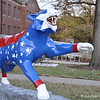 """1969 RED, WHITE adn TIGER BLUE"" Tiger by Connie Thiemonge assisted by Holly Snyder (BA '09)<br /> <br /> In 1969, Memphis State University awarded its first Ph.D., in Psychology.<br /> <br /> Sponsors: Barbara Prescott (BSEd'71, MEd '73) and Allie Prescott (BA '69, JD '72)"