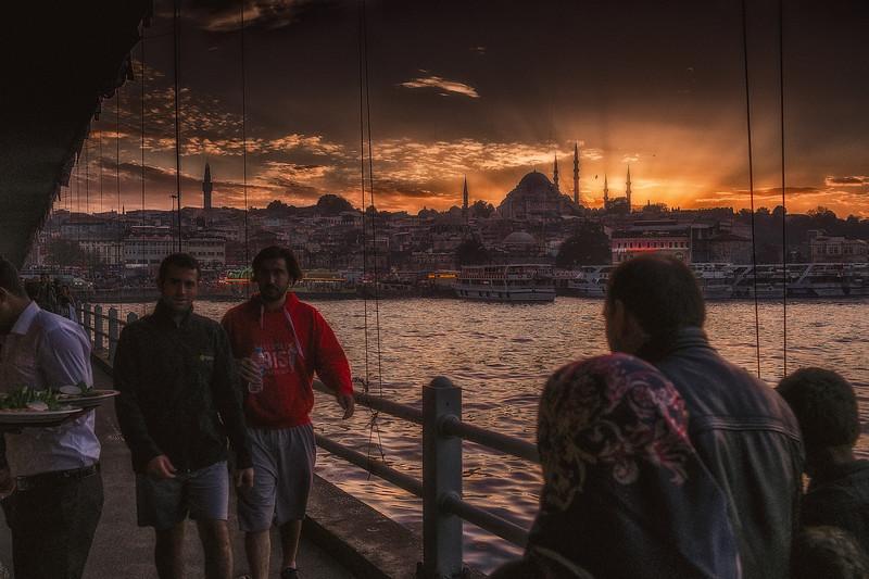 Sunset From Galata Bridge
