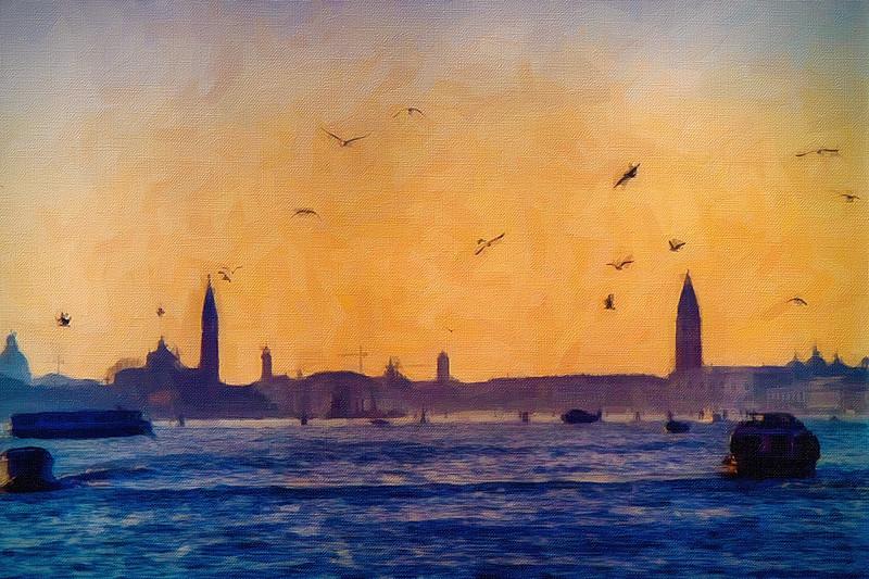 Sea Gulls In Venice