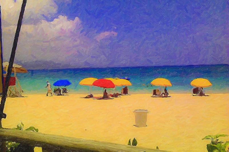 Beach Umbrella Man