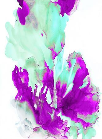 Sea Bloom in Violet & Mint