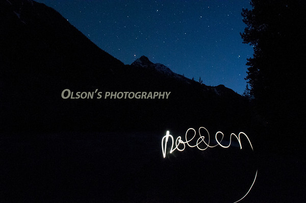 "holden ""written"" with a flashlite, taken at midnite"