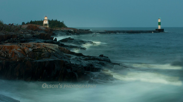 lighthouse near Grand Marais, MN