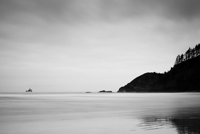Lighthouse view at Indian Beach, Oregon By Beverly Downen