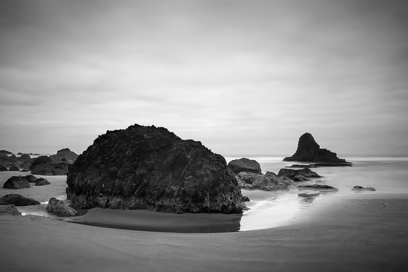 Indian Beach, Oregon<br /> By Beverly Downen<br /> <br /> Brett and I returned to Indian Beach to rediscover some of the amazing rocks and Monoliths you can't see from anywhere else. I love this beach mainly because the crowds don't venture this far into the woods to gain access to the beach. I don't think many people know about this place although it isn't too far from Ecola. If you get a chance to visit Indian Beach while you're in Cannon Beach or passing through, we definitely recommend it!