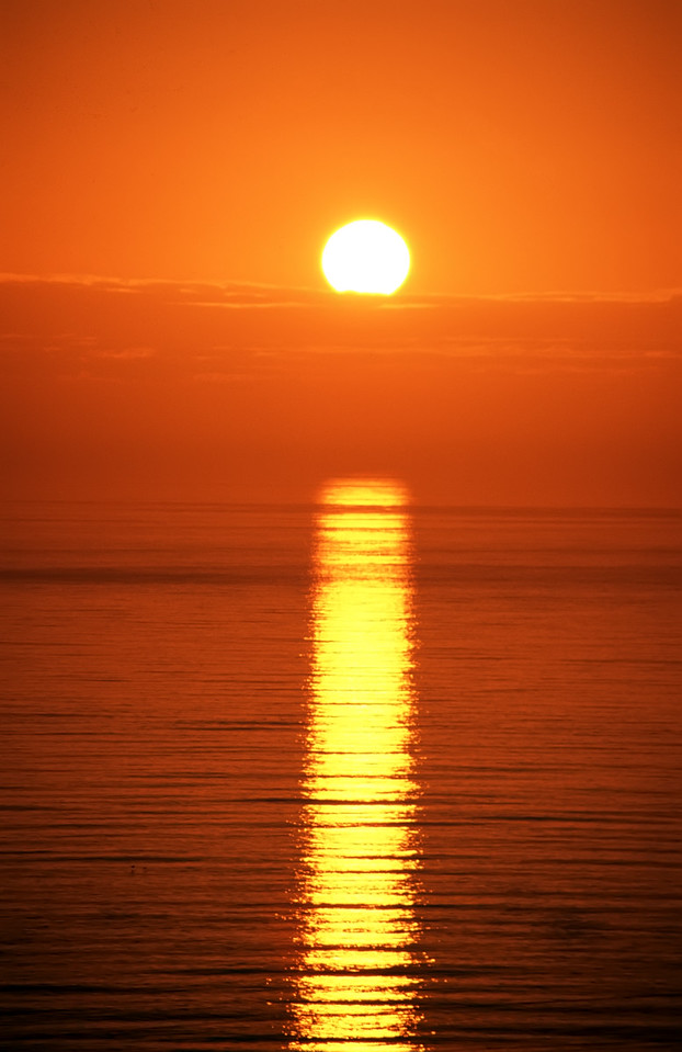 """Your Standard Pacific Ocean Sunset<br /> By Brett Downen<br /> <br /> Float Mounted MetalPrint<br /> Available sizes: 4"""" x 6"""", 8"""" x 12"""", 16"""" x 24"""". 24"""" x 36"""""""