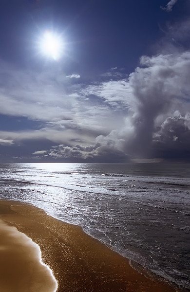 "An Oncoming Storm<br /> Pomponio Beach, California<br /> By Brett Downen<br /> <br /> Float Mounted MetalPrint<br /> Available sizes: 4"" x 6"", 8"" x 12"", 16"" x 24"". 24"" x 36"""